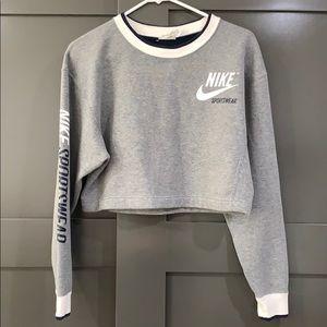 Nike Reversible Sweater Crop Top